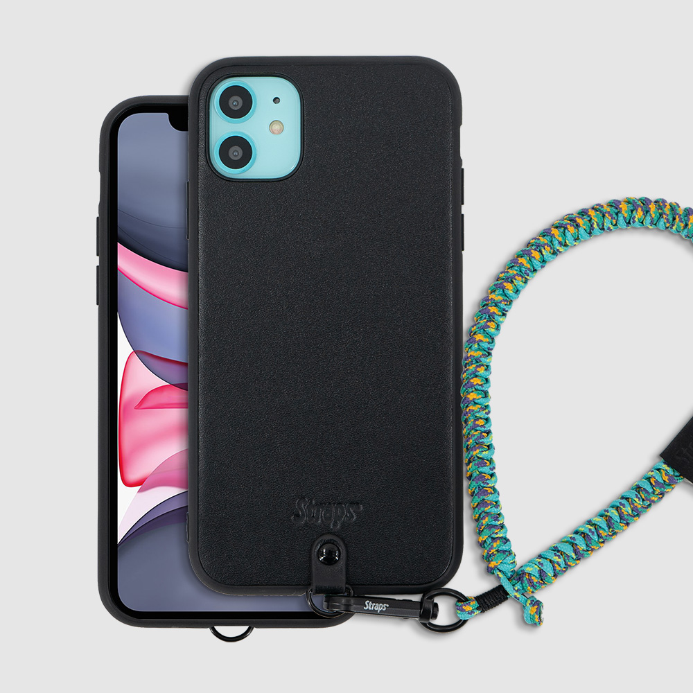 iPhone 11 Leather Slim Strap Case