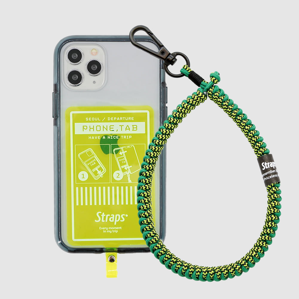 Phone Tab Green iPhone 11 Series Slim Strap Case