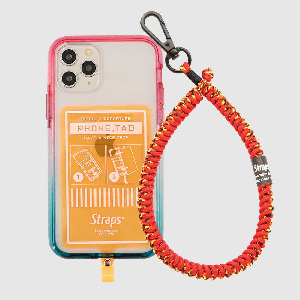 Phone Tab Orange iPhone 11 Series Slim Strap Case
